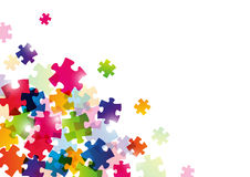 Color puzzle background Stock Photo