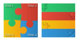 4 color puzzle diagram royalty free stock photography