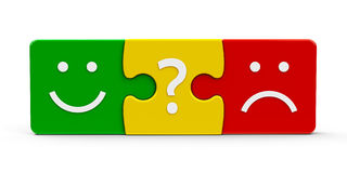 Color puzzle feedback Royalty Free Stock Photography