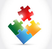 Color puzzle illustration design Stock Images