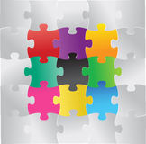 Color puzzle illustration design Royalty Free Stock Photos