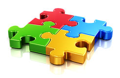 Color puzzle pieces Stock Photography