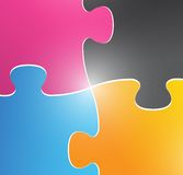 Color puzzle pieces illustration design Royalty Free Stock Image
