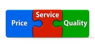 Color puzzle service Stock Photo