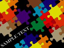 Color puzzle with space for text Royalty Free Stock Photography