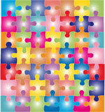 Color puzzles Stock Image