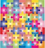 Color puzzles vector illustration