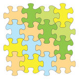 Color puzzles - vector set of elements Royalty Free Stock Photos