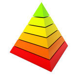 Color pyramid diagram Royalty Free Stock Photography