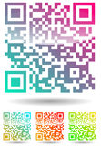 Color qr code Royalty Free Stock Image