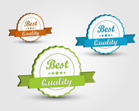 Color quality ribbons 3D Royalty Free Stock Photos