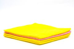 Color rags. For home cleaning on white background Royalty Free Stock Images