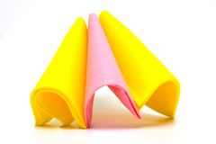Color rags. For home cleaning on white background Royalty Free Stock Photos