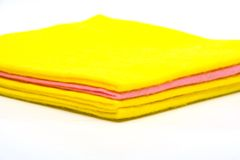 Color rags. For home cleaning on white background Royalty Free Stock Photo