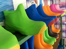 Color rain boots Stock Image