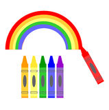 Color a Rainbow Royalty Free Stock Photography