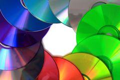 Color(rainbow)  CD and DVD media Royalty Free Stock Photo