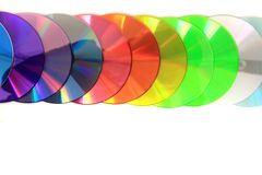 Color(rainbow)  CD and DVD media Stock Photography