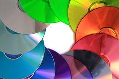 Color(rainbow)  CD and DVD media Royalty Free Stock Images