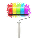 Color rainbow roll brush Stock Image