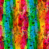 Color rainbow seamless abstract watercolor Stock Photography