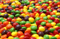 Color raindow. Colorful candy as far as thwe eye can see stock photos