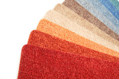 Color range of carpet samples. Can serve as background Stock Photo