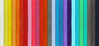 Color range - detail of the colored pastels Stock Image