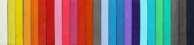 Color range - detail of the colored pastels Royalty Free Stock Photography