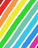 Color range painted background. Striped diagonal color acrylic spectrum background Stock Photos