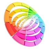 Color range spectrum circle round palette Stock Images