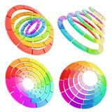 Color range spectrum circle round palette Royalty Free Stock Photography