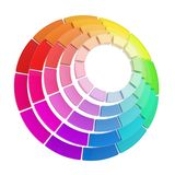 Color range spectrum circle round palette composition Royalty Free Stock Image