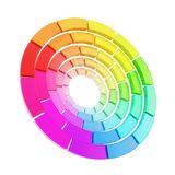 Color range spectrum circle round palette isolated Royalty Free Stock Photo