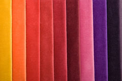 Color Raw Of Fabric Stock Photography