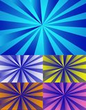 Color rays background Stock Photos