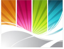 Color rays background Stock Images
