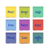 Color realistic vector sticky notes Royalty Free Stock Image
