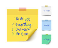 Color realistic vector sticky notes Stock Photo