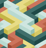 Color rectangle pattern. 3D clor shape's seamless pattern Royalty Free Stock Image