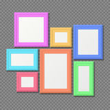 Color rectangle portrait wall frames vector set Royalty Free Stock Photography