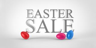 Color red blue easter eggs sale concept Royalty Free Stock Photography