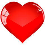 Color red heart for you (no mesh) Stock Photography