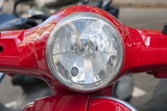 Color red motorcycle Stock Photos