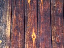 Color red painted wooden surface with mold. Old rustic wood with mold or fungal on top background texture royalty free stock photography