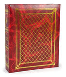 The color red photo albums on wite backround Royalty Free Stock Images