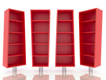 Color red shelves Royalty Free Stock Photography