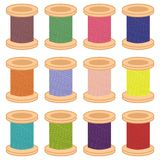 Color reels of thread Royalty Free Stock Photos