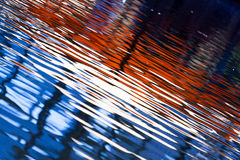 Color of the reflected waves on water. Royalty Free Stock Image