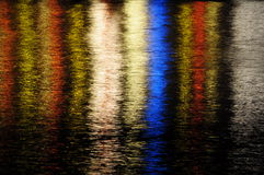 Color reflections on water royalty free stock photo